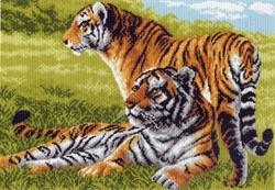 """Рисунок на канве """"Бенгальские тигры"""" 37 см х 49 см  """"Матренин Посад"""""""