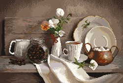 """Рисунок на канве """"Кофейный аромат"""" 37 см х 49 см  """"Матренин Посад"""""""