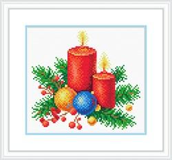 "Канва с рисунком  ""Новогоднее тепло"" 21 х 30 см ""М. П. Студия"""