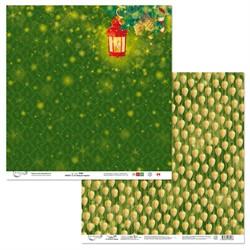 """Бумага для скрапбукинга двусторонняя """"С Новым Годом!"""" 30.5 х 30.5 см 1 лист"""