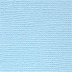 Бумага для скрапбукинга однотонная (кардсток) 30.5 x 30.5 см летнее небо (св.голубой) 1 лист