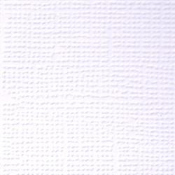 Бумага для скрапбукинга однотонная (кардсток) 30.5 x 30.5 см первый снег (белый) 1 лист