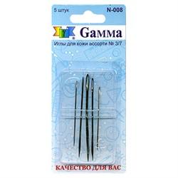 Иглы для шитья ручные 'Gamma'   для кожи №3/7  1 уп.