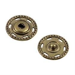 Кнопки пришивные металлические d 25 мм под бронзу 1 шт.