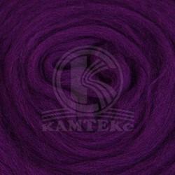 Полутонкая 100% шерсть для валяния 50 г цвет: фиалка
