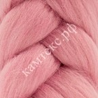 Полутонкая 100% шерсть для валяния 50 г цвет: розовый