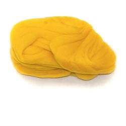 Полутонкая 100% шерсть для валяния 50 г цвет: желтый