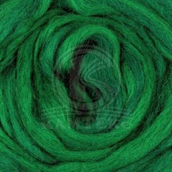 Полутонкая 100% шерсть для валяния 50 г цвет: ярко-зеленый