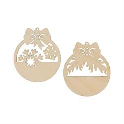 Заготовки для декорирования шарики-бирки фанера 6*7 см