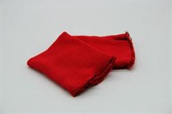 Манжеты трикотажные 8 x 10 см красные 1 пара