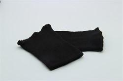 Манжеты трикотажные 8 x 10 см  черные 1 пара