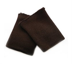 Манжеты трикотажные 8 x 10 см  коричневые 1 пара