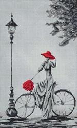 """""""Прогулка на велосипеде""""  23х38 см """"Нитекс"""""""