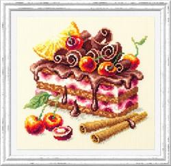 """""""Вишневый торт"""" 17х17 см  """"Чудесная Игла"""""""