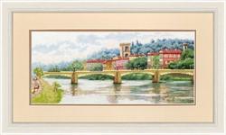 """""""Мост Понте-алле-Грацие, Флоренция"""" 18,7×42 см """"Золотое Руно"""""""