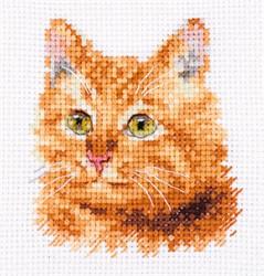 """""""Животные в портретах. Рыжий кот"""" 8х8 см """"Алиса"""""""