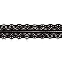 Кружево 30 мм  цвет черный   1м