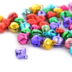 Бубенчики пластиковые 8 мм цветные  5 шт