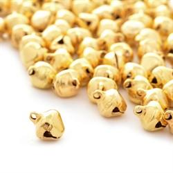 Бубенчики пластиковые 8 мм под золото  5 шт