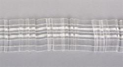 Лента шторная 60 мм прозрачная, сборка: карандаш 1 м
