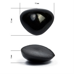 Носик для игрушек клеевой черный 12х15 мм   5 шт