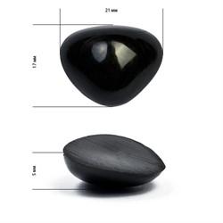 Носик для игрушек клеевой черный 21х17  1 шт
