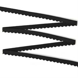 Резинка бельевая (отделочная) 10 мм цвет 170 черный 1 м
