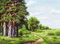 "Рисунок на канве  ""Лесная окраина"" 37х49 см  ""Матренин Посад"""