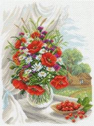 """Рисунок на канве  """"Полевые цветы""""  37х49 см  """"Матренин Посад"""""""