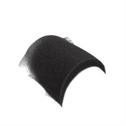 Плечевые накладки втачные необшитые черные 1 пара