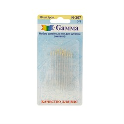 Иглы для штопки ручные  'Gamma'  № 3-9  уп. 10 шт.
