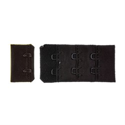 Застежки для бюстгальтеров 38 мм черные 1 компл