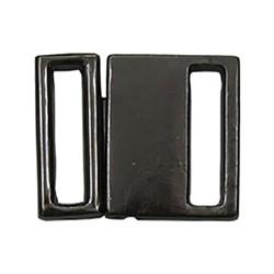 Застежка для бюстгальтеров металлическая черный никель 16 х 13 мм  1 шт