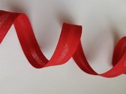 Косая бейка Х/Б  15 мм цвет: алый  1м