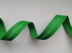 Косая бейка Х/Б  15 мм цвет: 060 зеленый 1 м