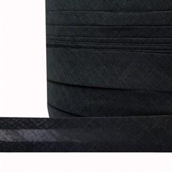 Косая бейка Х/Б 18 мм черная 1м