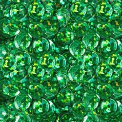 """Пайетки круглые """"голографик"""" 6 мм цвет: зеленый 1 п."""