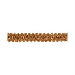 Тесьма декоративная 'Булет' цвет: св-коричневый 13 мм  1м