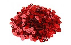 Пайетки россыпью 3 мм цвет: красный 1 п.