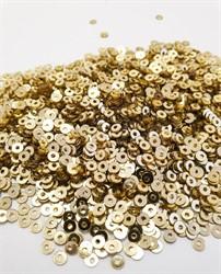 Пайетки россыпью 3 мм цвет: золото 1 п.