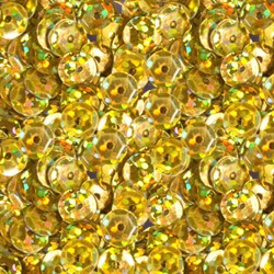 """Пайетки круглые """"голографик"""" 6 мм цвет: темно-желтый 1 п."""
