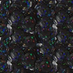 """Пайетки круглые """"голографик"""" 6 мм цвет: черный-синий 1 п."""