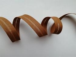 Косая бейка Х/Б  15 мм цвет: 074 св.коричневый 1 м