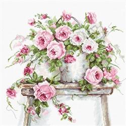 """Набор для вышивания """"Розы на табурете"""" 30х30 см """"Luca-S"""""""