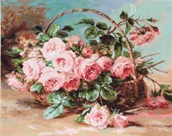 """Набор для вышивания """"Корзина с розами"""" 30х24 см """"Luca-S"""""""
