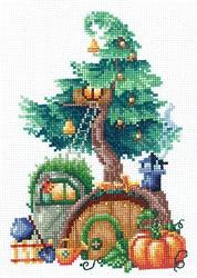"""Набор для вышивания """"Дома на деревьях. Щедрый"""" 12х17,5 см 'Сделай Своими Руками'"""