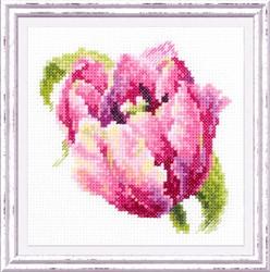 """Набор для вышивания """"Розовый тюльпан"""" 11х11 см """"Чудесная Игла"""""""