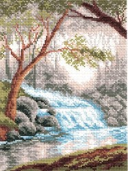 """Рисунок на канве """"Утро в лесу"""" 28 х 37 см  """"Матренин Посад"""""""