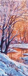 "Рисунок на канве ""Зимний вечер"" 40 х 90 см ""Матренин Посад"""