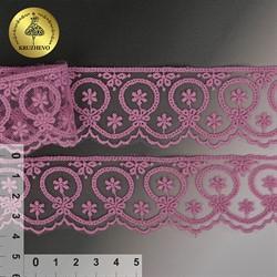 Кружево на сетке 40 мм цвет 110 лаванда 1  м